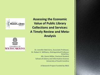 Assessing the Economic Value of Public Library Collections and Services: A Timely Review and Meta-Analysis