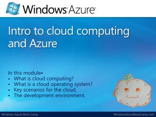 Intro  to cloud computing and Azure