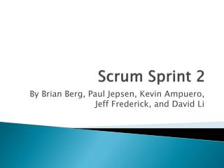 Scrum Sprint 2