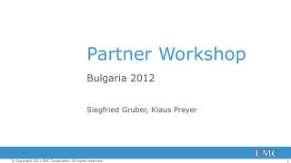 Partner Workshop
