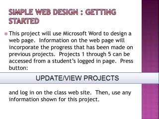 Simple web design : getting started