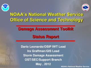 NOAA's National Weather Service Office of Science and Technology