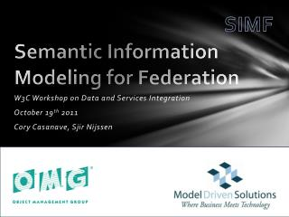 Semantic Information Modeling for Federation