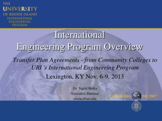 International  Engineering Program Overview
