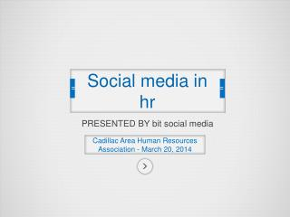 S ocial media in hr