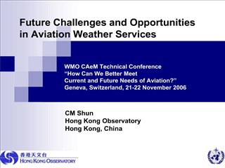 Future Challenges and Opportunities in Aviation Weather Services         WMO CAeM Technical Conference    How Can We Bet