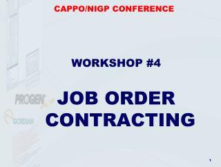 CAPPO/NIGP CONFERENCE