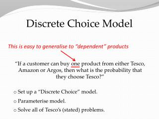Discrete Choice Model