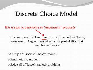 Discrete Choice Model