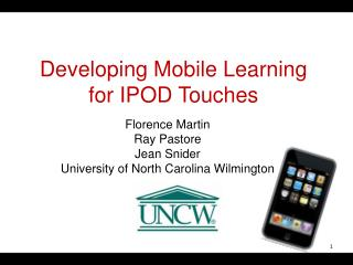 Developing Mobile Learning for IPOD Touches