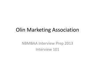 Olin Marketing Association