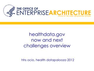 healthdata.gov now and next  challenges overview