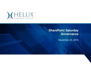 SharePoint Saturday Governance