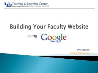 Building Your Faculty Website