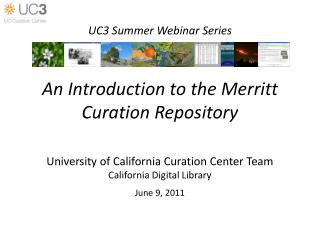 An Introduction to the Merritt Curation Repository
