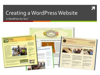 Creating a  WordPress  Website