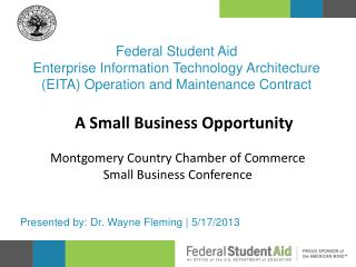Federal Student Aid Enterprise Information Technology Architecture (EITA) Operation and Maintenance Contract