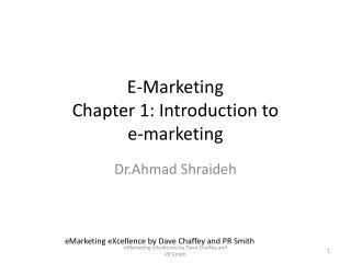 E-Marketing Chapter 1: Introduction to e-marketing
