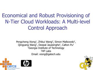 Economical and Robust Provisioning of N-Tier Cloud Workloads: A Multi-level Control Approach