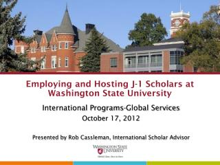 Employing and Hosting J-1 Scholars at Washington State University