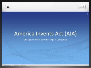 America Invents Act (AIA)