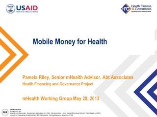 Mobile Money for Health
