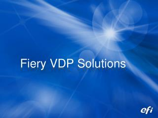 Fiery VDP Solutions