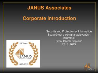 JANUS Associates Corporate Introduction