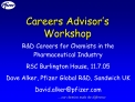 Careers Advisor s Workshop