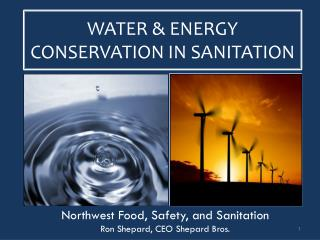 WATER & ENERGY CONSERVATION IN SANITATION