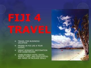 FIJI 4 TRAVEL