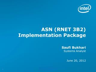 ASN (RNET 3B2) Implementation Package