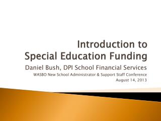 Introduction to Special Education Funding