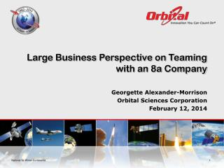 Large Business Perspective on Teaming with an 8a Company