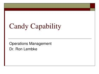 Candy Capability