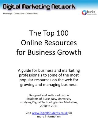 The Top 100 Online Resources for Business Growth