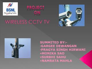 WIRELESS CCTV TV