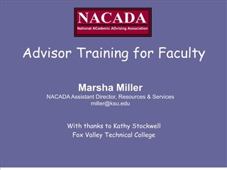 Advisor Training for Faculty