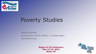 Poverty Studies