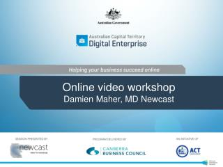 Online video workshop Damien Maher, MD Newcast