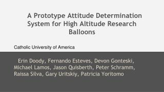 A Prototype Attitude Determination System for High Altitude Research Balloons