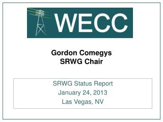 Gordon Comegys SRWG Chair