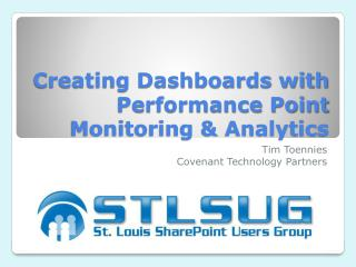 Creating Dashboards with Performance Point Monitoring & Analytics
