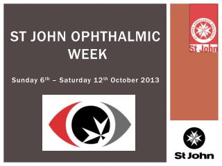ST John Ophthalmic  Week