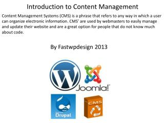 Introduction to Content Management