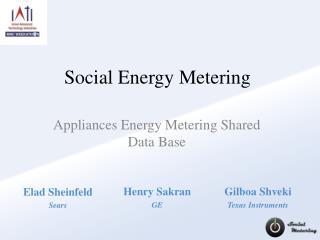 Social Energy Metering