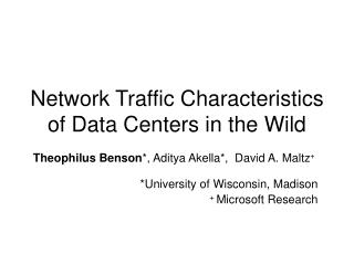 Network Traffic Characteristics of Data Centers in the Wild