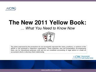 The New 2011 Yellow Book:  … What You Need to Know Now