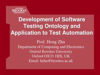 Development of Software Testing Ontology and Application to Test Automation