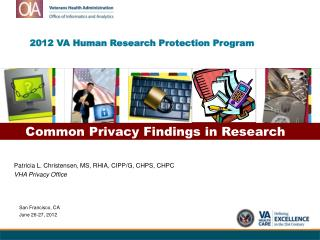 2012 VA Human Research Protection Program